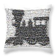 Train Mosaic Throw Pillow