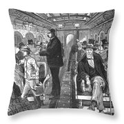 Train: Passenger Car, 1876 Throw Pillow