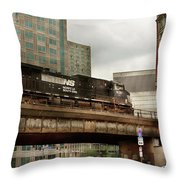 Train - Pittsburg Pa - The Industrial City Throw Pillow