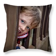 Train Ride Fun Throw Pillow