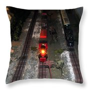 Train Set Throw Pillow