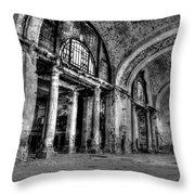 Train Station Lobby Decay Throw Pillow