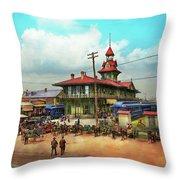 Train Station - Louisville And Nashville Railroad 1912 Throw Pillow