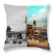 Train Station - Louisville And Nashville Railroad 1912- Side By Throw Pillow