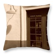 Train Station Of The 40s  Throw Pillow