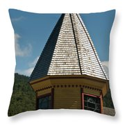 Train Station Spire Throw Pillow