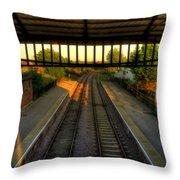 Train Station Throw Pillow