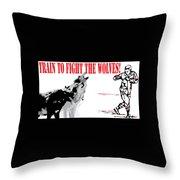 Train To Fight Throw Pillow