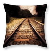 Train Tour Of Darkness Throw Pillow
