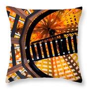 Train Track Abstract Throw Pillow