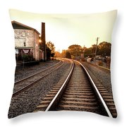 Sunrise At The Old Mill  Throw Pillow