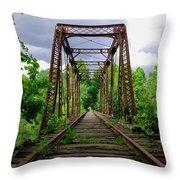Train Trestle Throw Pillow