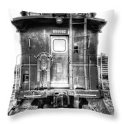 Train Waiting In Atchison Kansas Throw Pillow