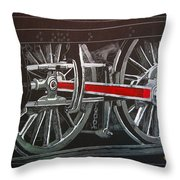 Train Wheels 4 Throw Pillow