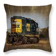 Train Yard 2 Throw Pillow