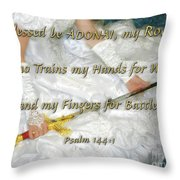 Trained For Battle Throw Pillow