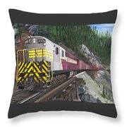 Trainmaster At Myra Throw Pillow