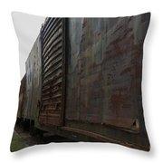 Trains 12 Autochrome Throw Pillow