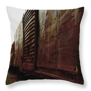 Trains 12 Retro Throw Pillow