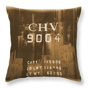 Trains 14 Albumen Border Throw Pillow