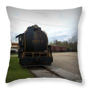 Trains 3 Vign Throw Pillow