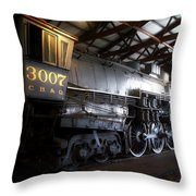 Trains 3007 C B Q Steam Engine Throw Pillow