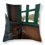 Trains 5 Org Throw Pillow