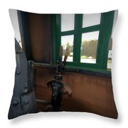 Trains 5 Vign Throw Pillow