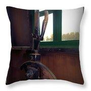 Trains 6 Vign Throw Pillow