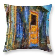 Trains Box Car Yellow Door Pa 02 Throw Pillow