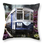 Trains Brookfield Zoo Trolley Car 141 Throw Pillow
