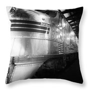 Trains Emd E5 Diesel Locomotive Bw Throw Pillow
