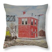 Trains In Motion Throw Pillow