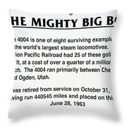Trains Mighty Big Boy Signage Throw Pillow