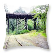 Trains Over And Under Throw Pillow