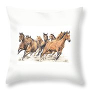 Trakehner Throw Pillow
