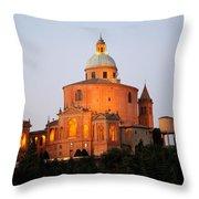 Tramonto Su San Luca, Bologna Throw Pillow