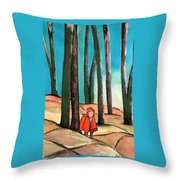 Trampling Through The Woods Throw Pillow