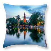 Tran Quoc Pagoda Throw Pillow