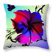 Trance Flower Throw Pillow