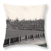 Tranmere Rovers - Prenton Park - Bebington Kop End 1 - Bw - 1967 Throw Pillow