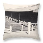 Tranmere Rovers - Prenton Park - Borough Road Stand 1 - Bw - 1967 Throw Pillow