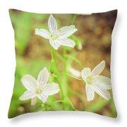 Tranquil Carolina Spring Beauty Throw Pillow