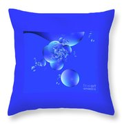 Tranquil Effervescence  Throw Pillow