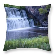 Tranquil Falls Throw Pillow