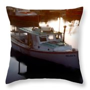 Tranquil Harbor Throw Pillow