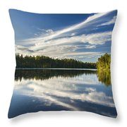 Tranquil Lake In Finland Throw Pillow