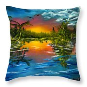 Tranquil Lake Throw Pillow