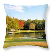 Tranquil Landscape At A Lake 7 Throw Pillow