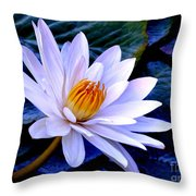 Tranquil Lily Throw Pillow